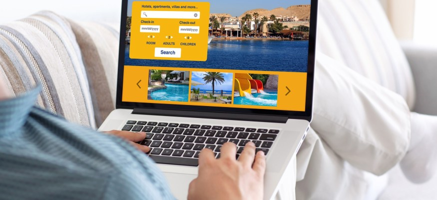 Potential Client Searching For A Travel Agent On The Internet